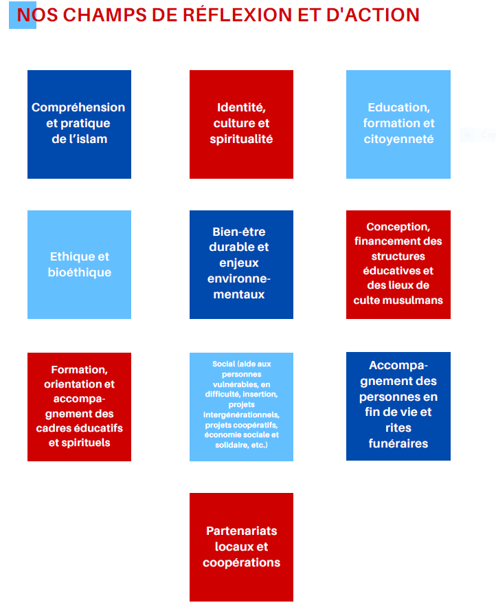 champs de réflexion et d'action